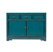 Yajutang Antikes  Sidebaord  Lowboard blau
