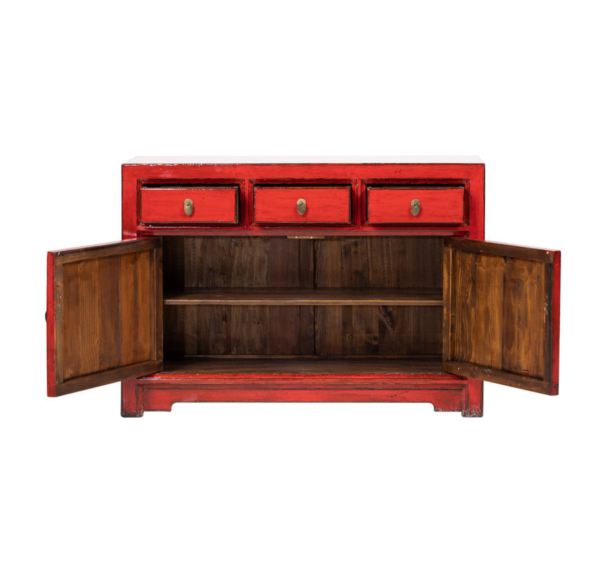 Antikes  Sidebaord  Lowboard  chinesisch Asia asiatisch rot