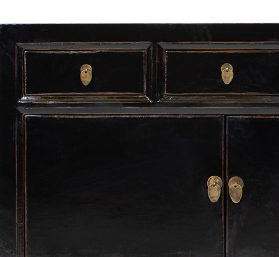 Antique sideboard lowboard chinese asia asian black