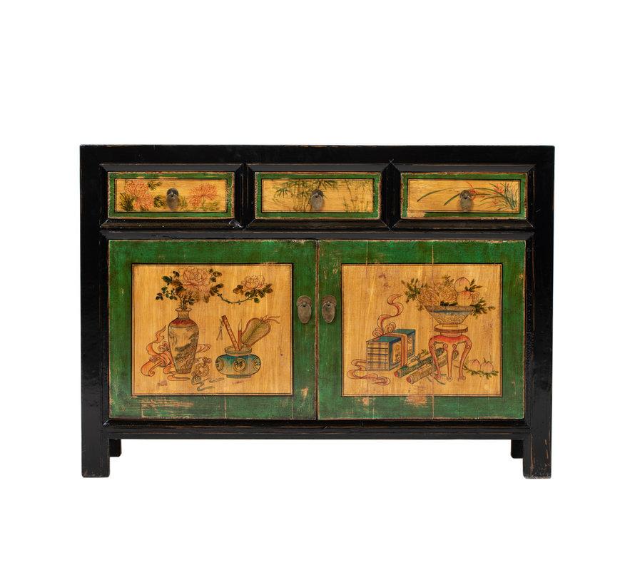 Antikes  Sidebaord  Lowboard  chinesisch Asia asiatisch bemalt