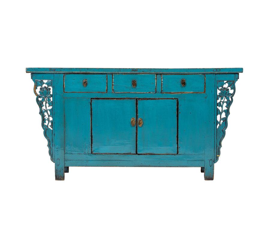 Antikes  Sidebaord  Lowboard  chinesisch Asia asiatisch blau