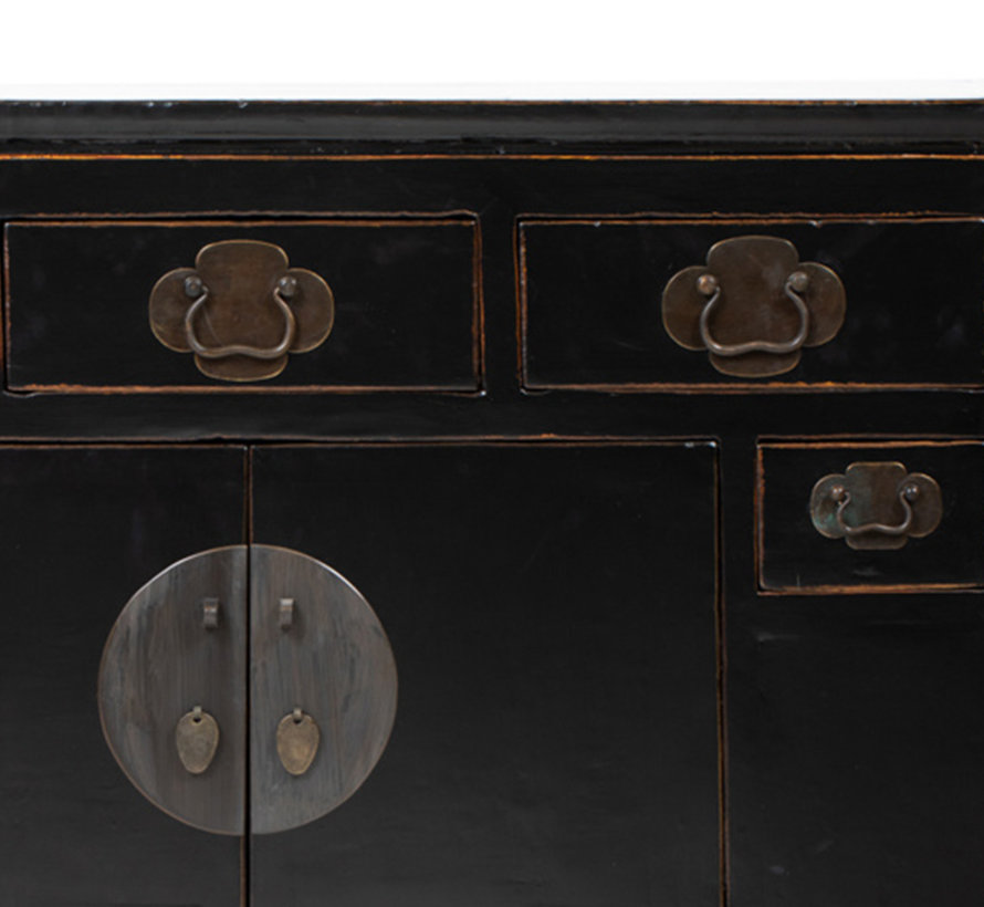 Antique sideboard lowboard chinese asia  black