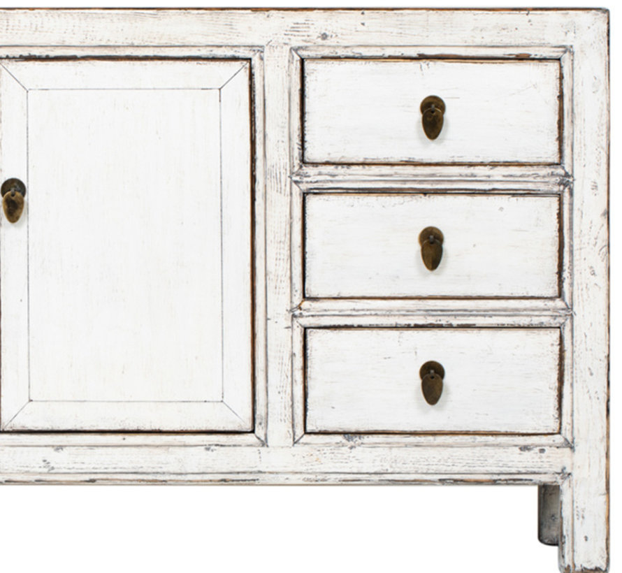 Antique sideboard lowboard chinese asia  white