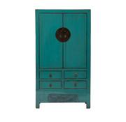 Yajutang antique  wedding cabinet turquoise