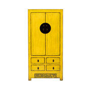 Yajutang antique chinese wedding cabinet yellow