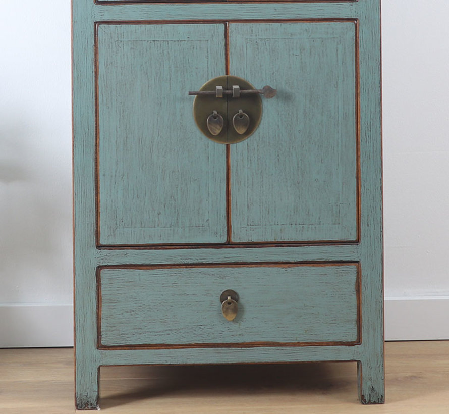 Chinese chest of drawers wedding cabinet closet gray