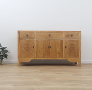 Yajutang chinese sideboard 4 doors natural