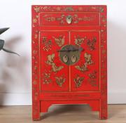 Yajutang Chinesische Kommode  Nachtschrank rot