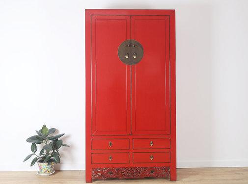 Yajutang Hochzeitsschrank 2 Türen rot