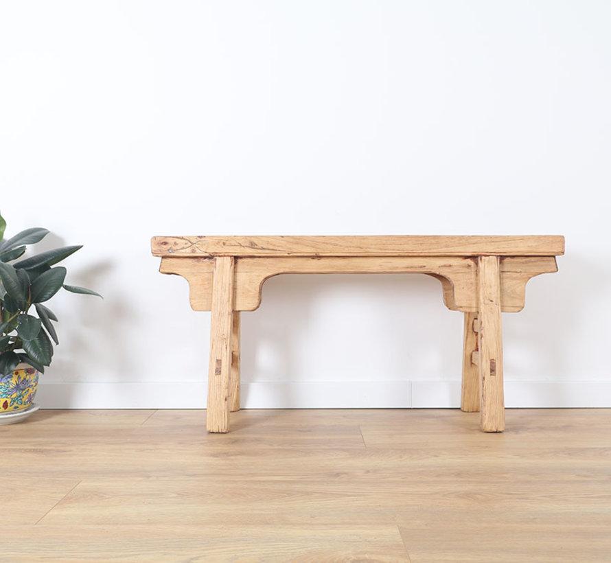 Antiker Hocker Sitzhocker Holzhocker Massivholz