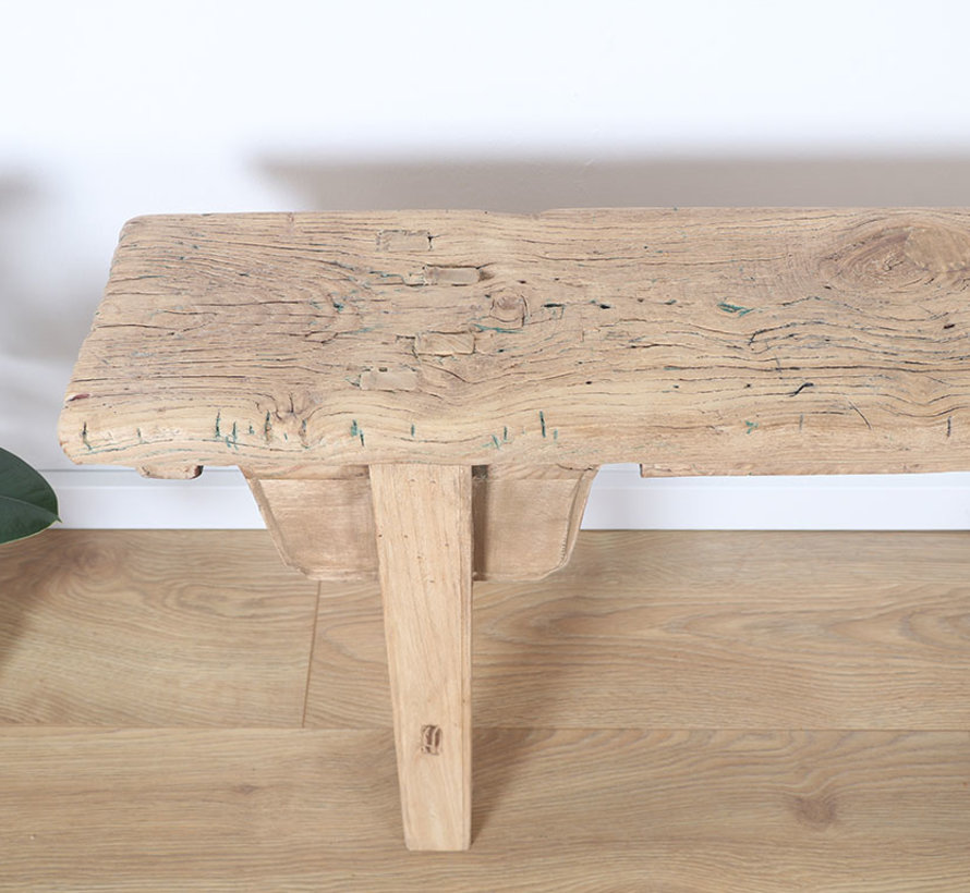 Antique wooden stool solid wood