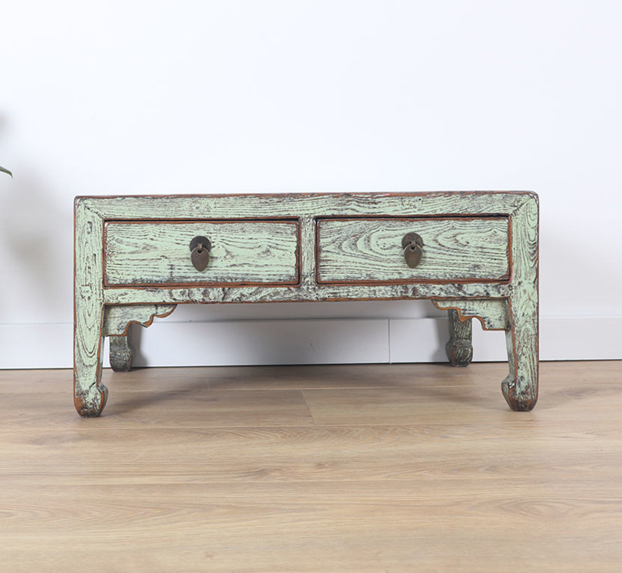 Chinese small table side table solid wood mint