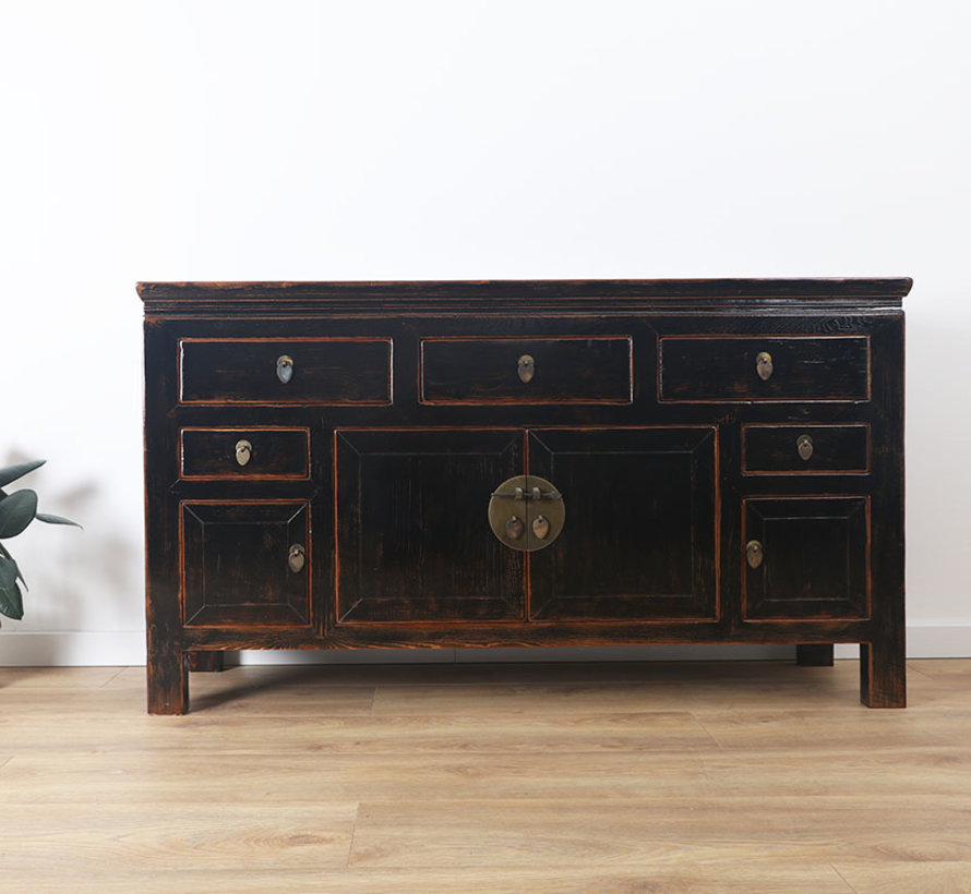 Antique sideboard lowboard chinese asia asian cabinet