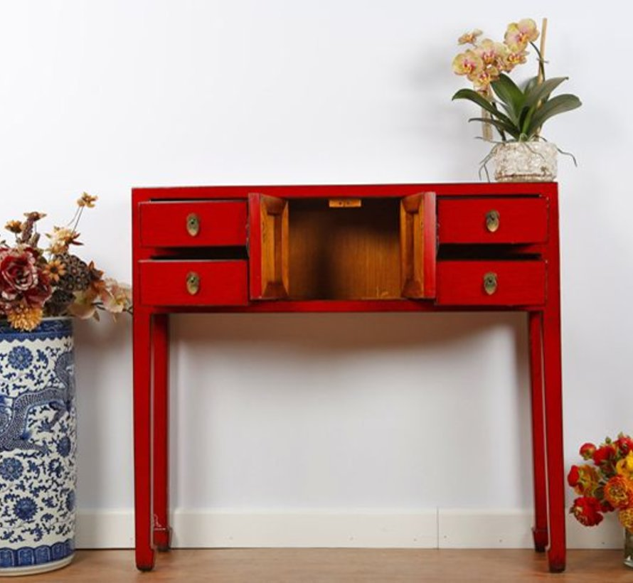 Chinese dresser table sideboard solid wood China red