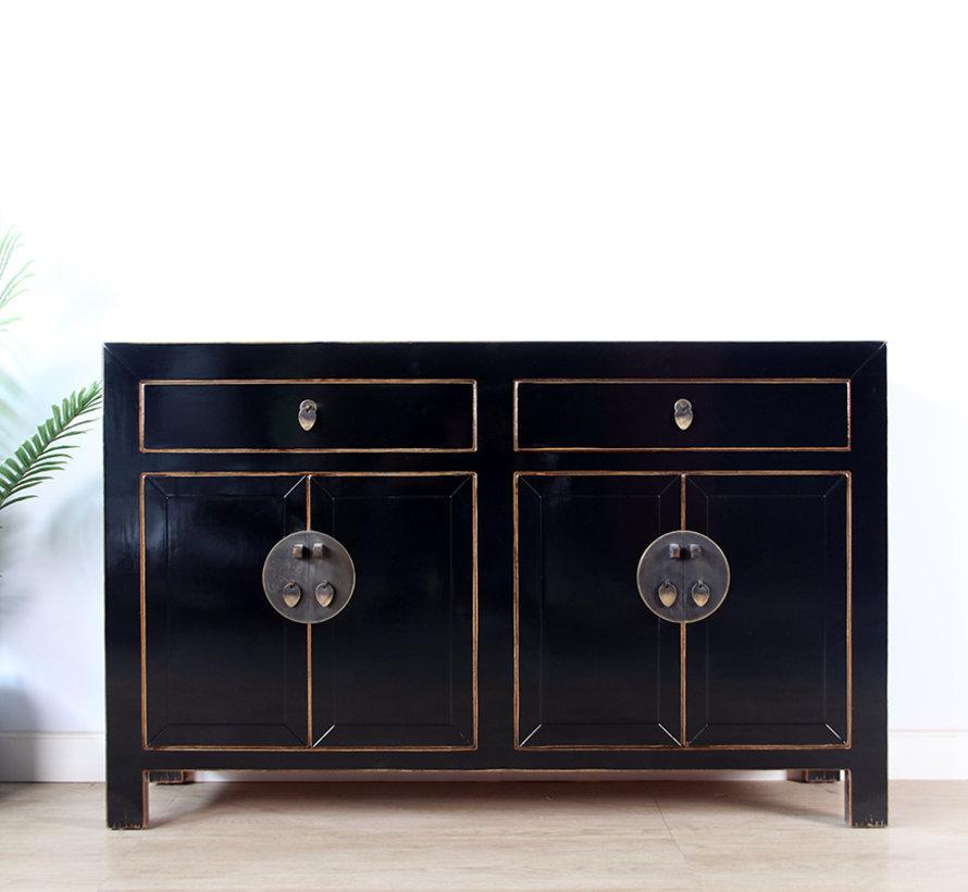Dresser sideboard 4 doors 2 drawers black