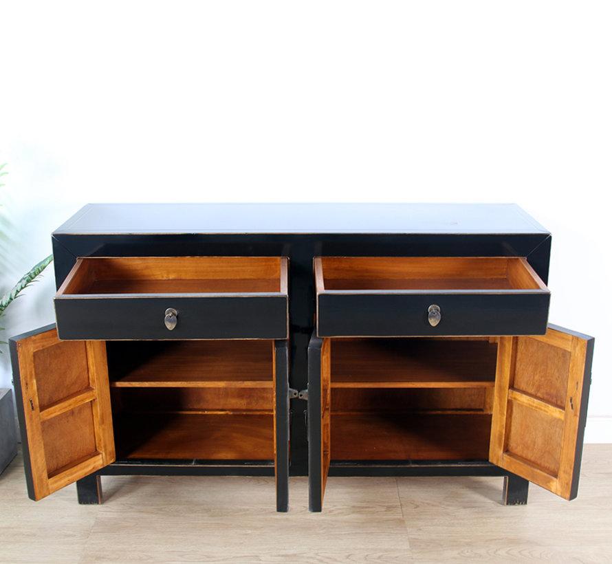 Kommode Sideboard 4 Türen 2 Schubladen schwarz