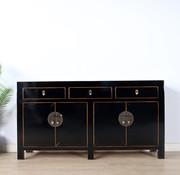 Yajutang Chinese sideboard 4 doors 3 drawers black