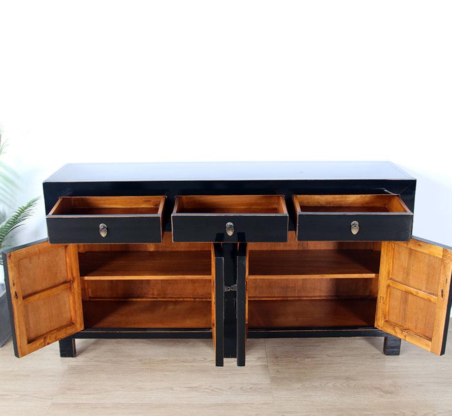 Chinese dresser sideboard 4 Türen 3 Schubladen black