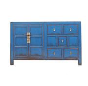 Yajutang Sideboard 2 doors 5 drawers used blue