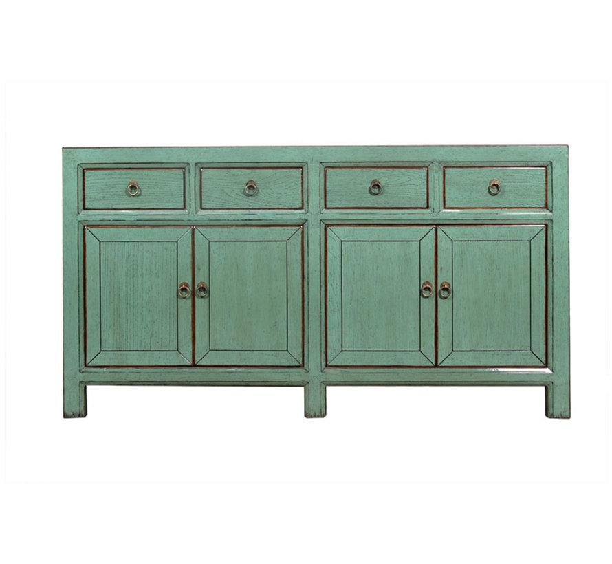 Sideboard 4 Türen 4 Schubladen langer Vorratsschrank used mintgrün