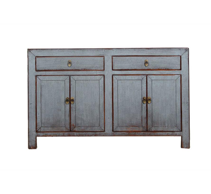 Sideboard 4 Türen 2 Schubladen langer Vorratsschrank used grau