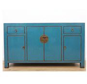 Yajutang Chinese sideboard 4 doors 2 drawers blue