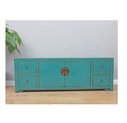 Yajutang Sideboard 2 doors 4 drawers turquoise