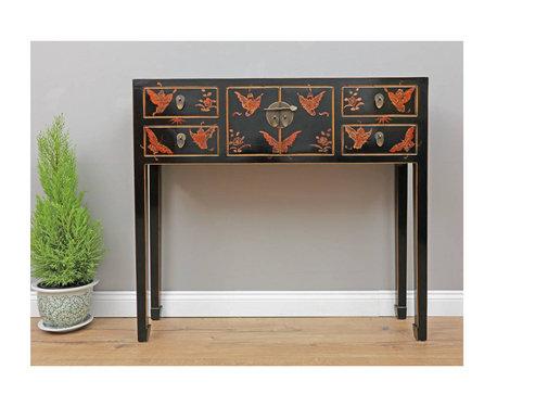 Yajutang TV table 2 doors 4 drawers painted
