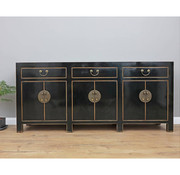Yajutang Chinese sideboard chest of drawers 6 doors black