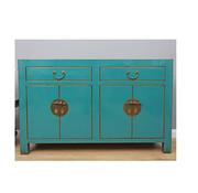 Yajutang Sideboard 4 doors 2 drawers turquoise