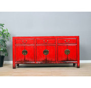 Yajutang Sideboard 6 door 3 drawer antik used red