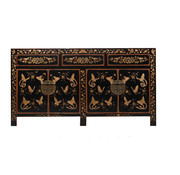 Yajutang Sideboard with hand painting black