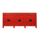 Yajutang Sideboard with hand painting red