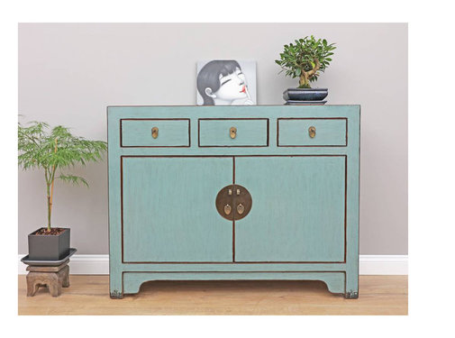 Yajutang Chinese sideboard chest of drawers gray