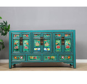Yajutang Sideboard with painting on glass 6 doors