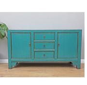 Yajutang Sideboard 2 doors 3 drawers turquoise
