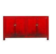 Yajutang chinesisches Sideboard 4 Türen rot