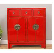 Yajutang Dresser 3 drawer 4 doors red