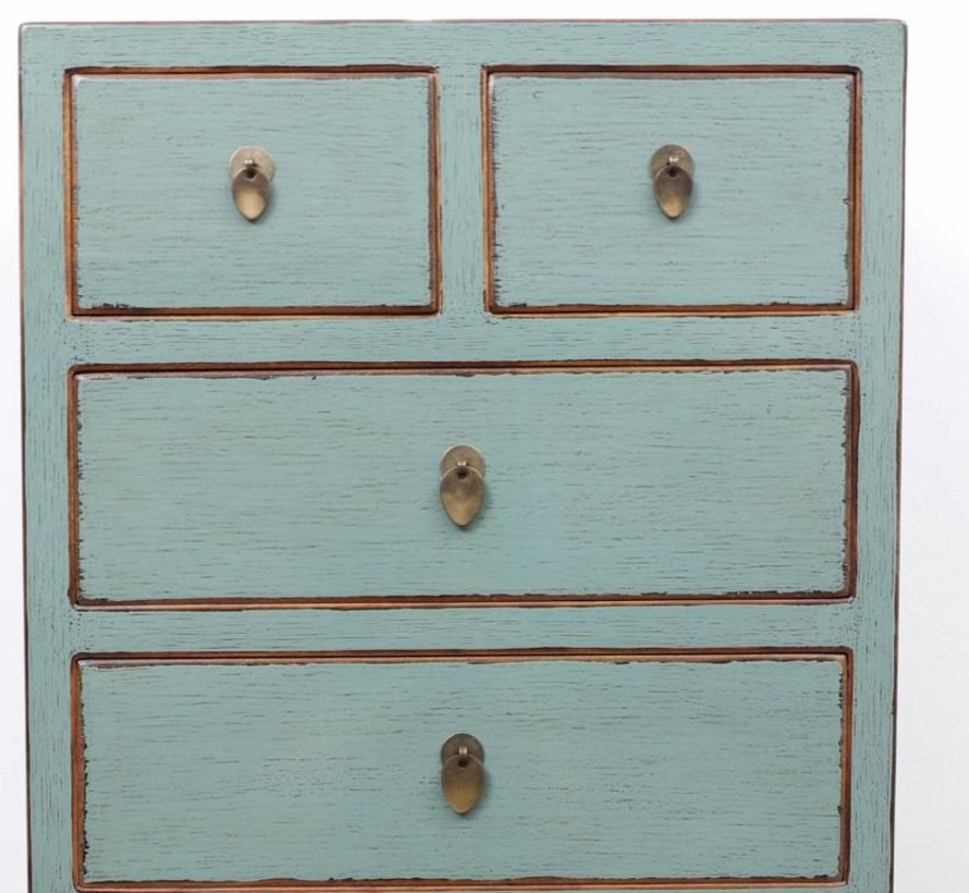 Chinese dresser sideboard 3 drawers 2 doors light gray