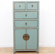 Yajutang Chest of drawers 4 drawers 2 doors gray