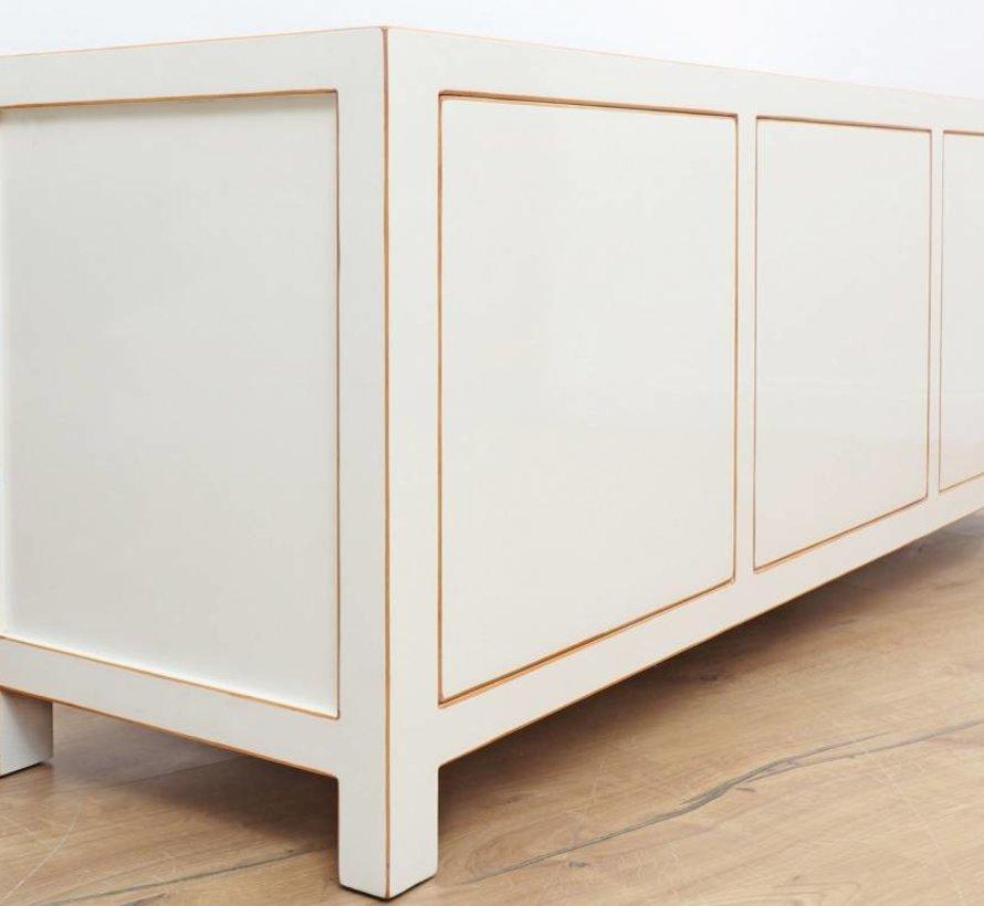 chinesische Kommode Sideboard 3 Türen weiß
