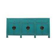 Yajutang Chinese sideboard 6Türen 3 Schubladen turquoise