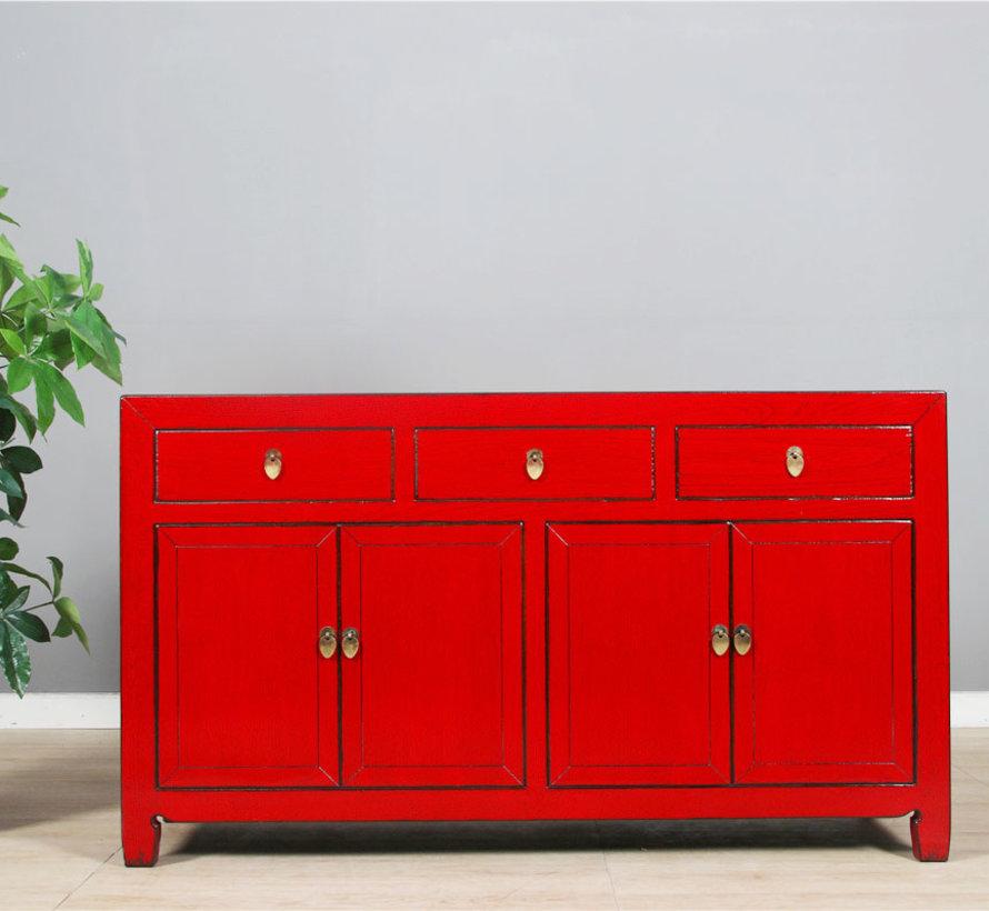 Chinese dresser sideboard 4 Türen 3 Schubladen red
