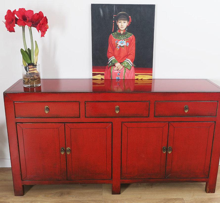 chinesische Kommode Sideboard 4 Türen 3 Schubladen