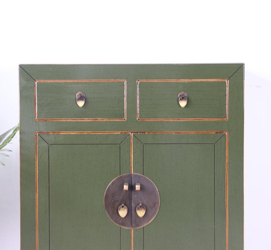 chinesische Kommode Orientalisch/Asiatisch Stil  olivgrün