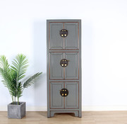 Yajutang Chinese wedding cupboard 6 doors gray