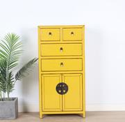 Yajutang china Kommode 4 Schub 2 Türen gelb