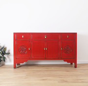 Yajutang chinese sideboard 4 doors red