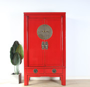 Yajutang Chinese wedding cabinet 2 red