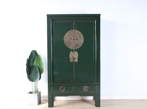Yajutang Chinese wedding cabinet fir-green